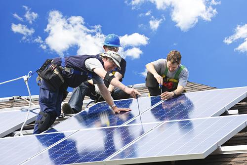 napelem felszerelése