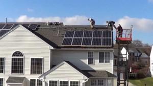 napelem a háztetőn
